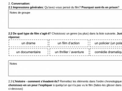 PARLER ET ÉCRIRE AVEC DES FILMS (Français B1+)