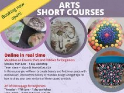 Mandalas and Decoupage for beginners