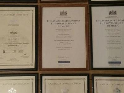 Exam certificates 1995 - 2015
