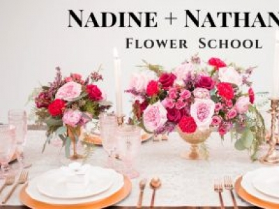 Nadine + Nathaniel Flower School: Modern Flower Arranging + Floral Art Classes